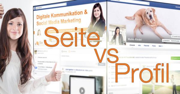 Facebook Seite vs Profil